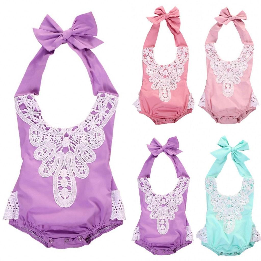 Naujagimių kūdikių kūdikių mergaičių nėrinių gėlių - Kūdikių drabužiai - Nuotrauka 1