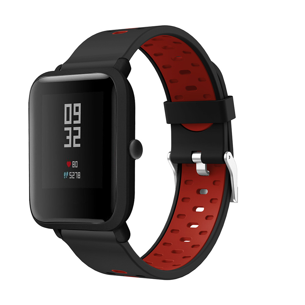 20mm Silicone Band Strap For Xiaomi Huami Amazfit Bip Youth Edition Smart Watch Replacement Band Sport Breathable Bracelet Belt 1