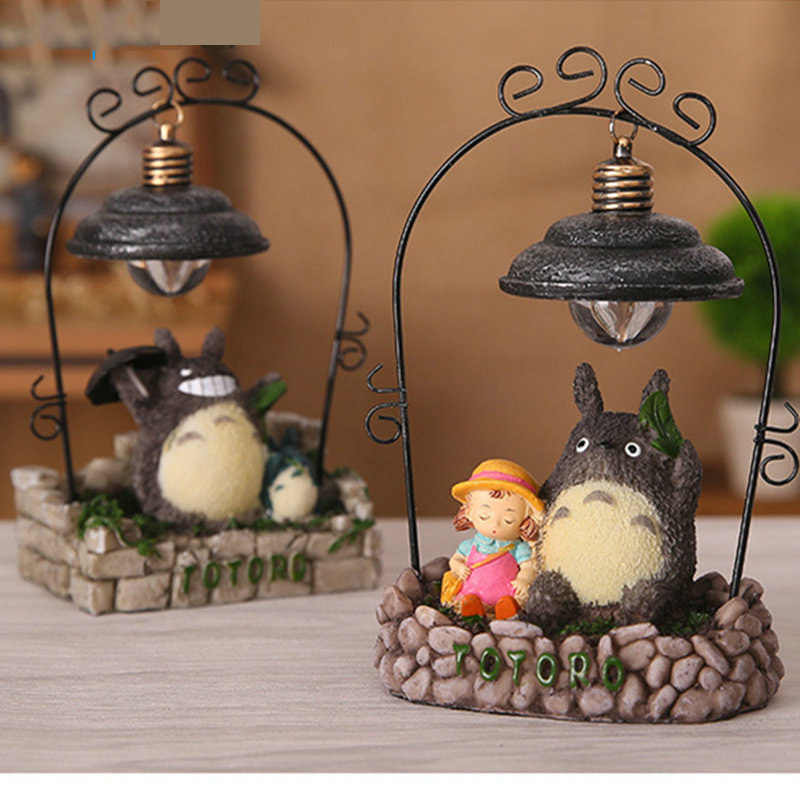 Cute Totoro Resin Night Light Children Luminaria Night Lamp Lamps Lights Child Nightlight LED Lights Children's Room C9XQ3Z