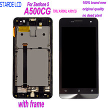 5.0 Original Display for ASUS Zenfone 5 LCD Touch Screen with Frame T00J A500KL A500CG A501CG T00P Digitizer