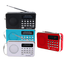 Portable T-205 Telescopic antenna FM Radio TF Card Speaker Digital Chargable Multi media MP3 Music Loudspeaker Outdoor Sports