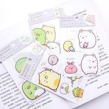 Cute Cartoon Corner Biological Luggage Car Sticker  DIY Handbook Diary Decorative Stationery
