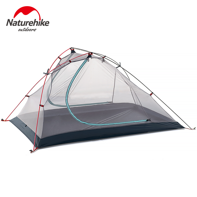 Naturehike ultralight 1-2 person camping tent outdoor one bedroom 3 season tent double layer single man hiking tents 4