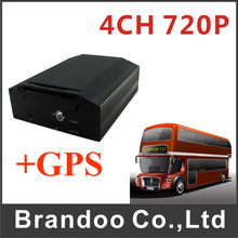 HDD H.264 Dvr Recorder 4CH 720P MDVR For Bus With GPS Function