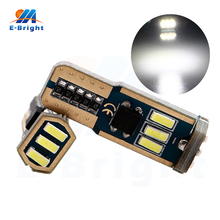 10/100pcs 12V T10 W5W Canbus 4014 9 SMD LED Car Indicator Side Light Parking Light Bulbs White 6500K Nonpolarity стоимость