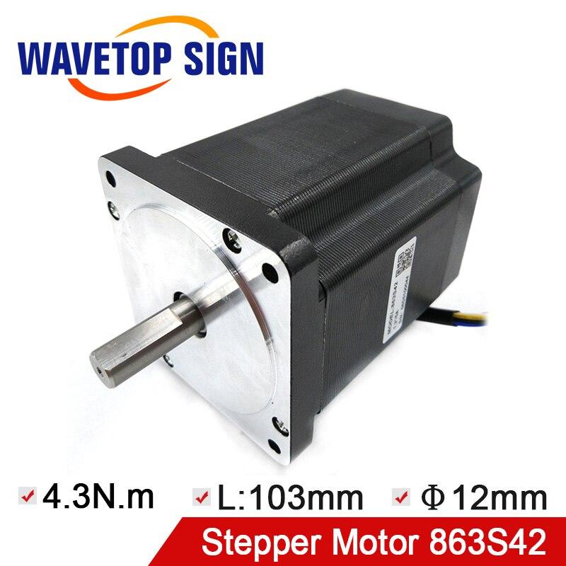 Leadshine Nema 34 Stepper Motor 863S42 Holding Torque 4 3N m Use For Laser Engraving Machine