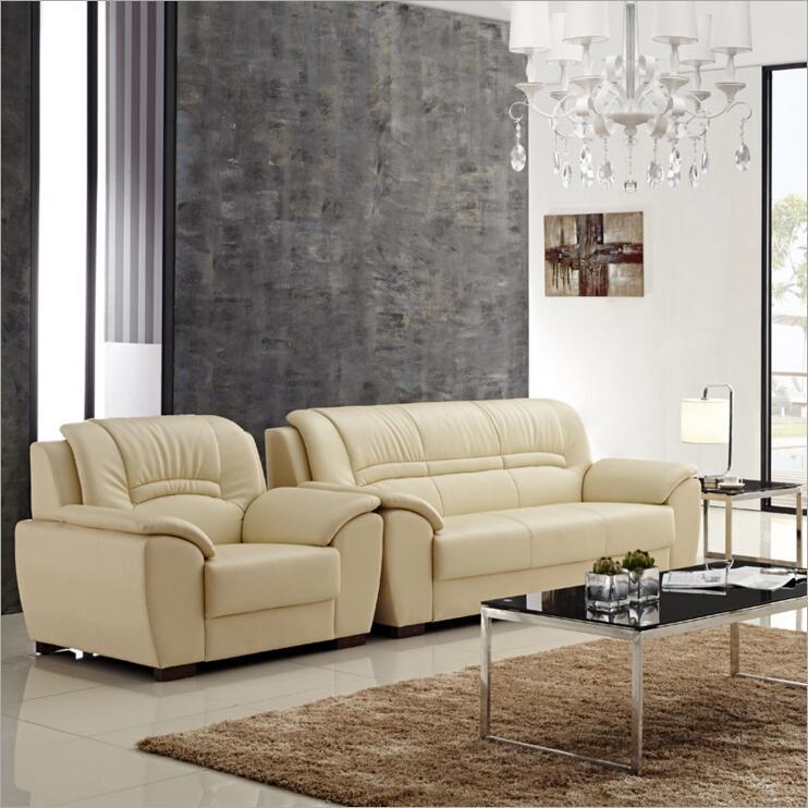 high quality  European  antique living room sofa furniture genuine leather set o1229