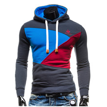 2017 Hoodies Männer Sudaderas Hombre Casual Sportwear Mann Hoody Pullover Langarm Patchwork Hoodie Sweatshirt Trainingsanzug Slim Fit