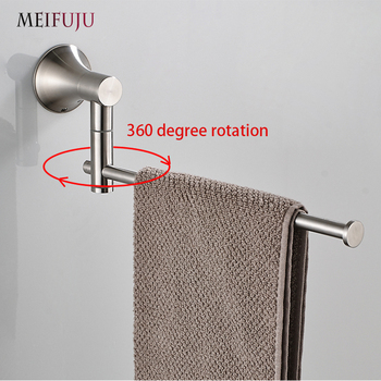 Nickel Brushed Towel Rings SUS 304 Stainless Steel Towel Bars Holder WC Towel Hangers Storage Wall Mounted Bath Hardware Set ofyage wall mounted 304 stainless steel brushed double towel bars towel racks towel holder bathroom products for home