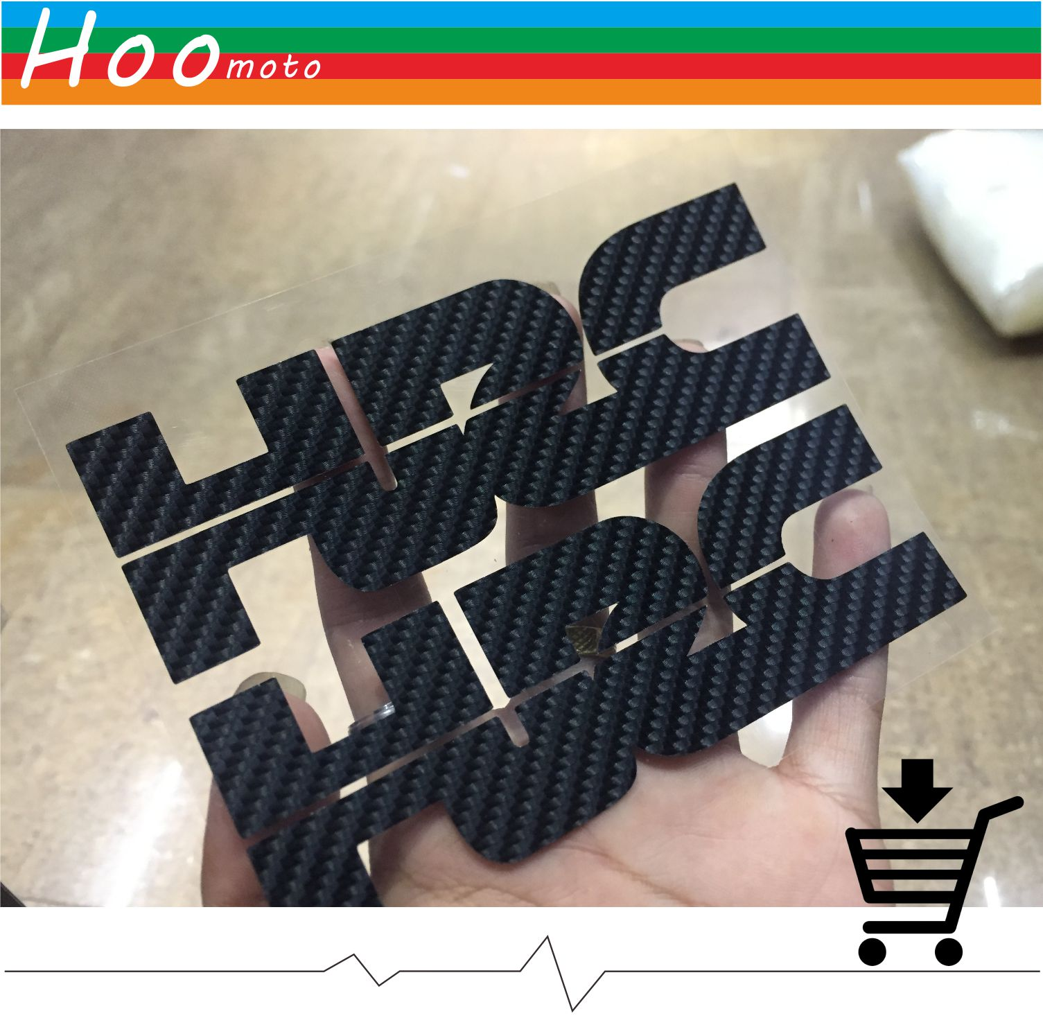 For Honda CBR1000RR CBR600RR 250R 600F HRC DIY 12.5cm*4cm Motorcycle Sticker Black 5D Carbon Fiber stickers and decals MOTO