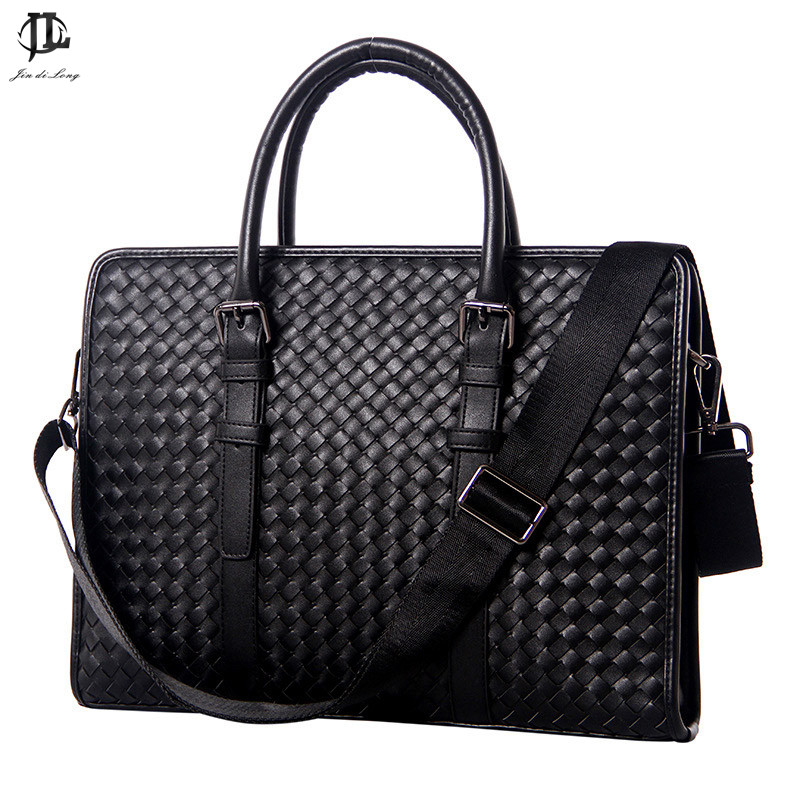 2019 Fashion 100% Genuine Leather Men's Business Bag Top Quality Briefcase Messenger Bag Crossbody Shoulder Bag For Gentlemen