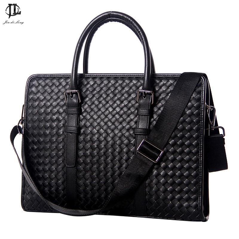 2019 Fashion 100% Genuine Leather Men's Business Bag Top Quality Briefcase Messenger Bag Crossbody Shoulder Bag For Gentlemen
