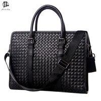 High Quality Men Briefcase Genuine Leather Business Man Laptop Tote Bag Crossbody Shoulder Bag Men S