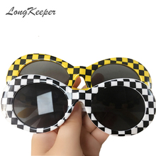 LongKeeper Retro Sunglasses Men NIRVANA Kurt Cobain Sunglasses Classic Vintage Women Sun Glasses White Frame Eyewear 10pcs/lot