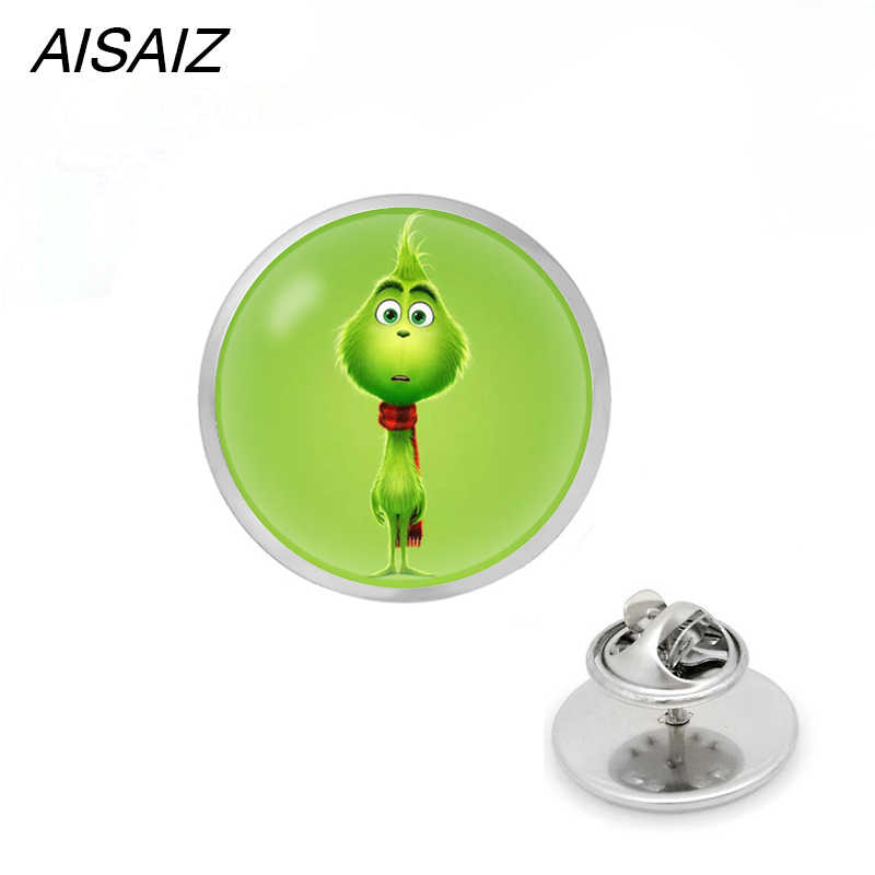 fd4263962d1bf The Grinch pin brooch glass Circle Animal brooches for The Grinch Anime  pins Jewelry Christmas gift Red Dead: Redemption