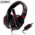Original Somic G923 Over-Ear Stereo Gaming Headphone Surrounded Sound Game Headset Headband with Mic Volume Control for PC Gamer
