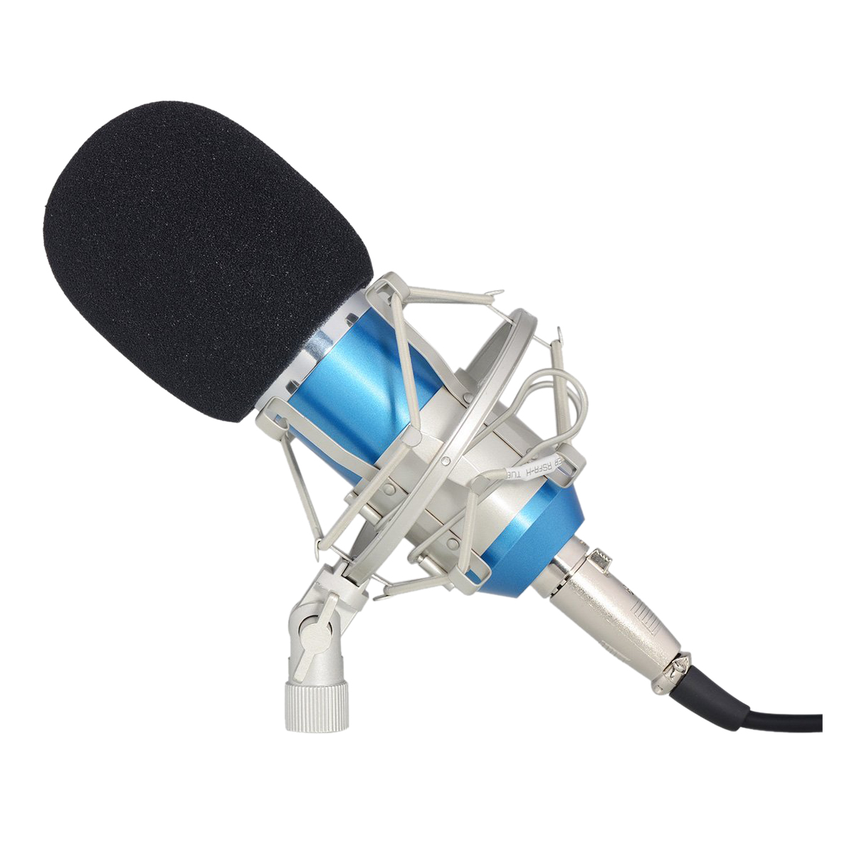 Studio D'enregistrement Microphone À Condensateur avec Shock Mount Holder Clip pour Radiodiffusion Voix-Sur Son, les Jeux et la Vidéo Chat