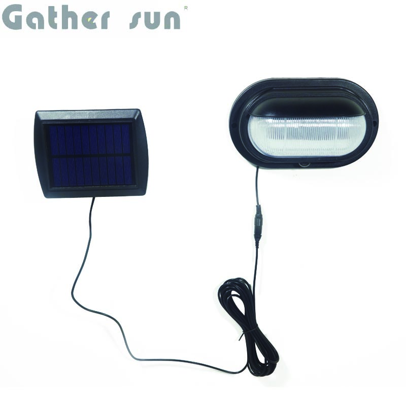 LED Solar DoorLight Outdoor ABS Body PIR Sensor Black Light IP44 Waterproof Solar Power High Quality Lamp For Apartment House