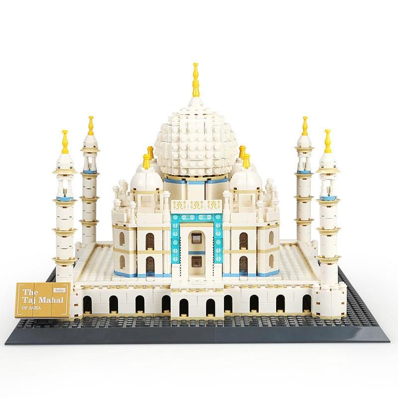 Miniature moderne bâtiments de renommée mondiale modèle blocs empilables Taj Mahal tour Eiffel Arc de Triomphe modèle de bureau briques jouets