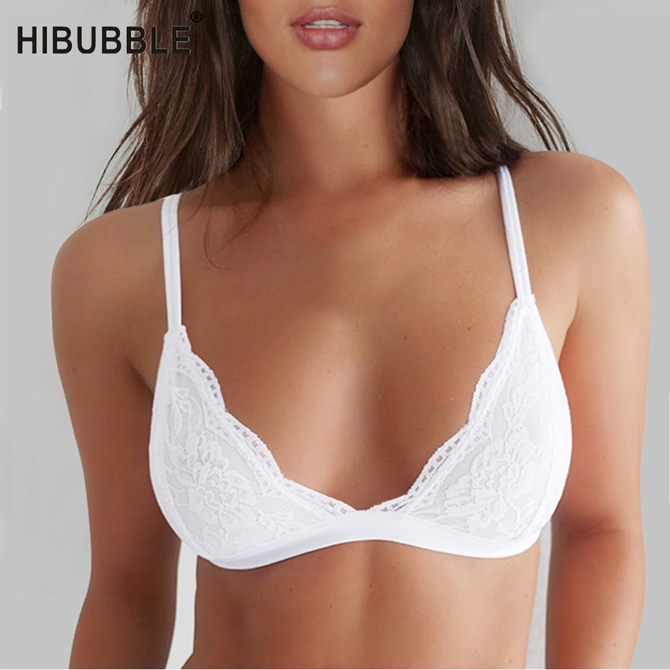 Classic Thin Sexy Lace Bra Unpadded Bralette Push Up Bra Lingerie Cotton Breathable Bras For Women Wire Free Bra Bh Underwear