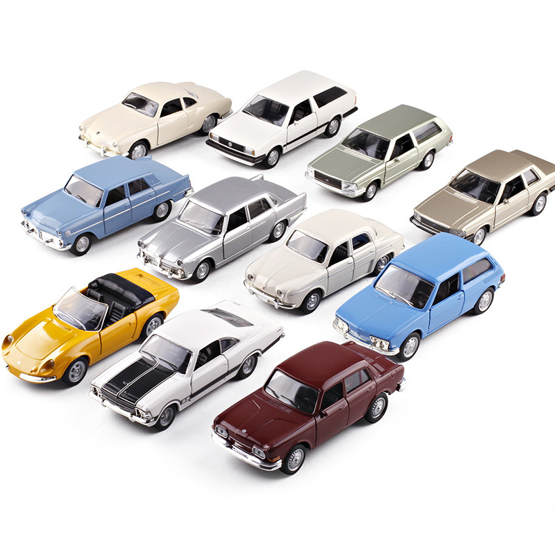 Metal Car <font><b>Model</b></font> 1:36 Scale Antique car VW/<font><b>Ford</b></font>/Alfa Romeo Diecast Automobile Toys For Collection Children Friend Gift image