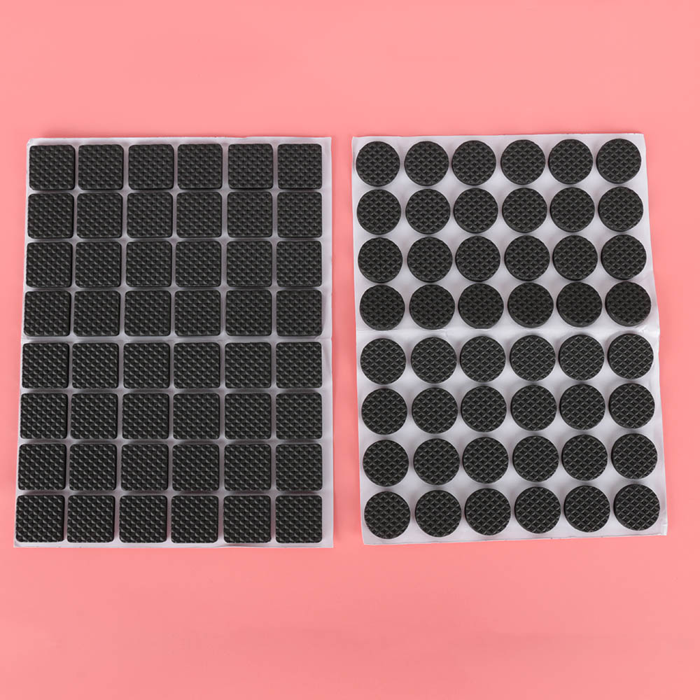 48Pcs Floor Protectors Mat Non-slip Self Adhesive Furniture Rubber Feet Pads Table Chair Round Sticky Pad For Sofa Chair Leg