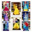 2016 NEW 29CM Popular eight princess snow white cinderella aurora ariel belle jasmine brave girl dolls plastic girls' gift toys