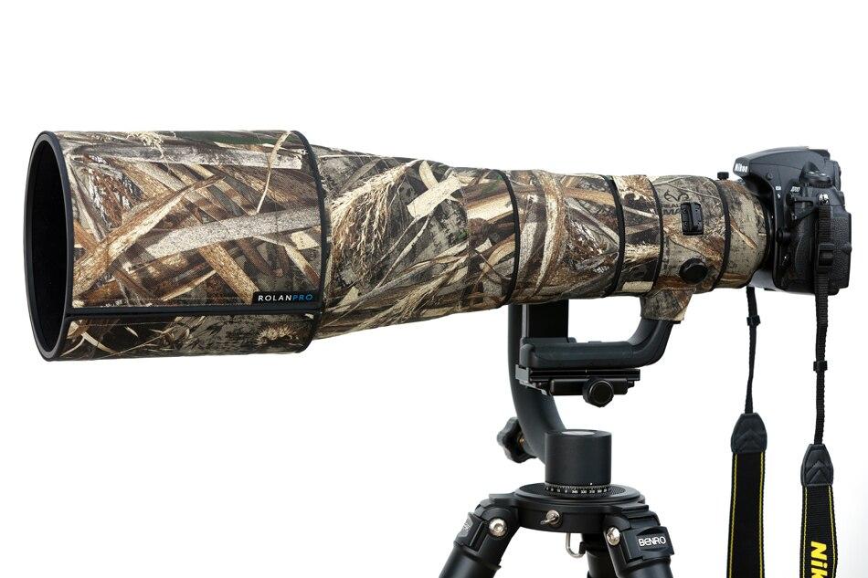 ROLANPRO Nylon Waterproof Camouflage Rain Cover Nikkor Nikon AF-S 600mm F/4E FL ED VR Protective Case Lens Protection Sleeve