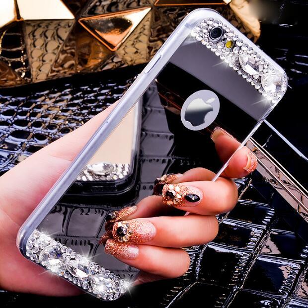 Bling Diamond Mirror Samsung Galaxy S3 S4 S4 Mini S5 S5 Mini S6 S6 Edge Plus S7 S7 Edge S9 Plus S8 Plus Case