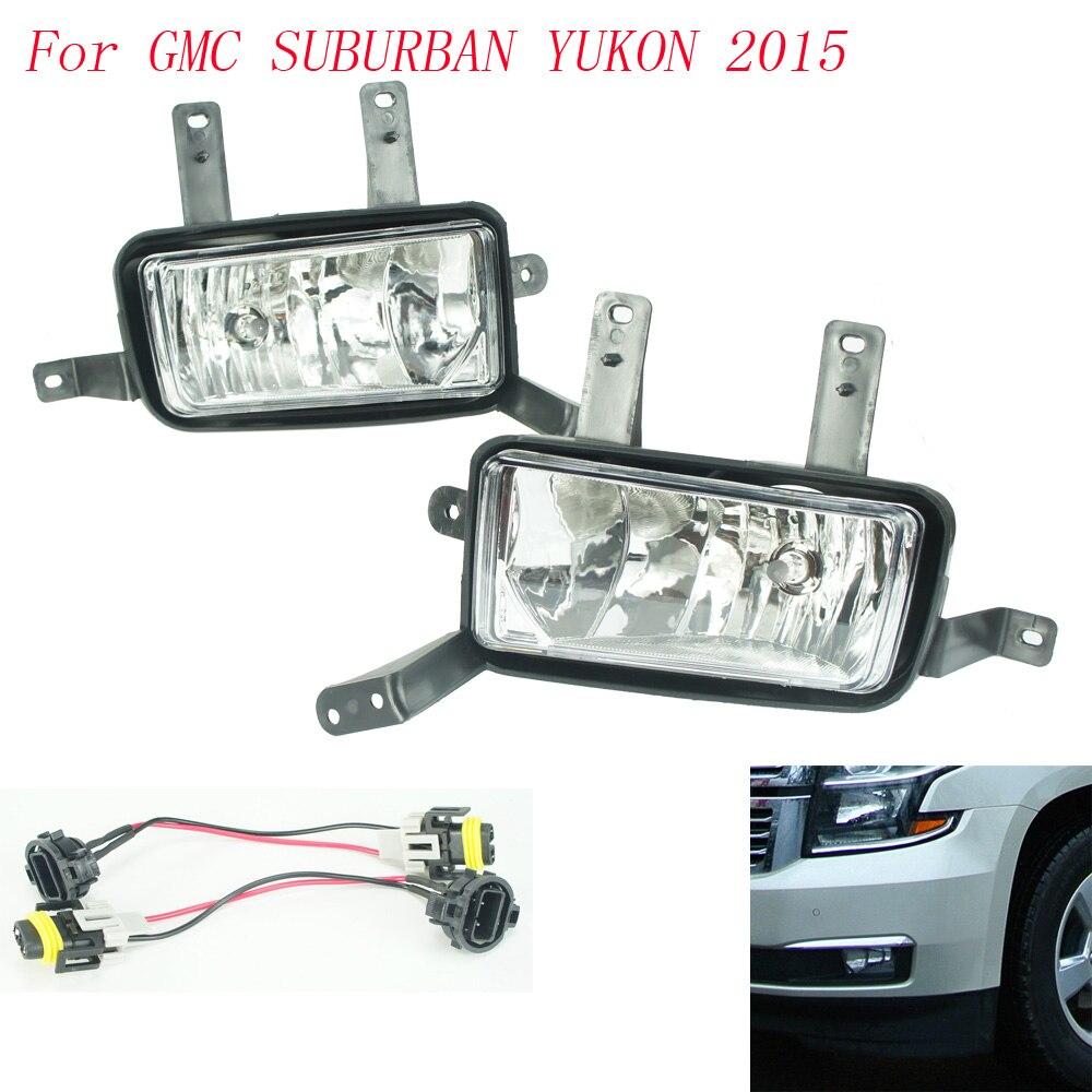 Fog light for gmc suburban yukon 2015 fog lamps clear lens bumper fog lights driving lamps