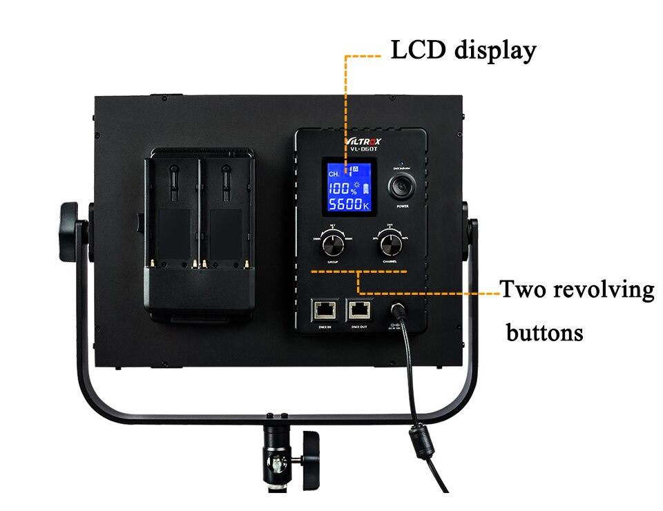 Details about Viltrox VL-D60T Bi-color 3300K-5600K LED Video studio on