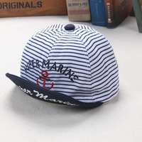 Kids Summer Hats With Supper Marine Letters And Pinstripe Baseball Hat Children Snapback Caps Hip