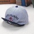 Kids Summer Hats Letters Super Marine Printed Pinstripe  Baseball Hat Children Snapback Caps Hip Hop Boys Sun Caps Girls