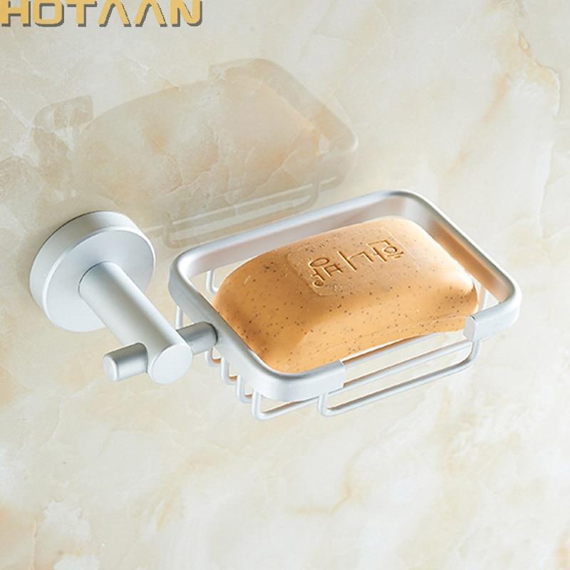 Strongest Practical design ! Solid aluminium bathroom accessories set,bathroom soap dish,soap basket,Free shipping,YT12190