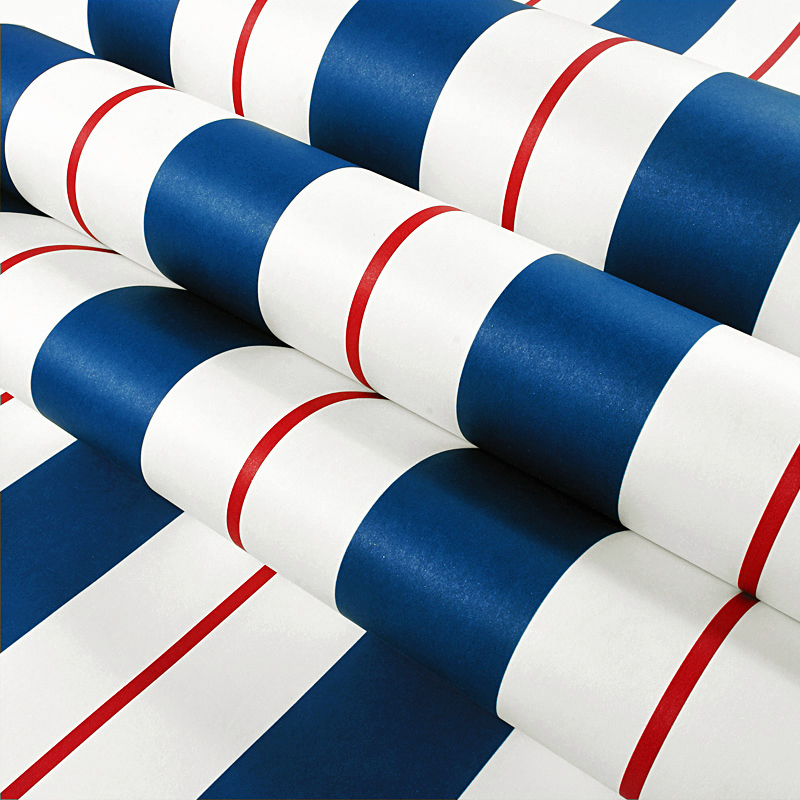 Blue White Stripes Non-woven Wallpaper Wall Paper Modern Living Room Bedroom Wall Decoration Wallpaper Papel De Parede Listrado beibehang non woven wallpaper rolls pink love stripes printed wall paper design for little girls room minimalist home decoration