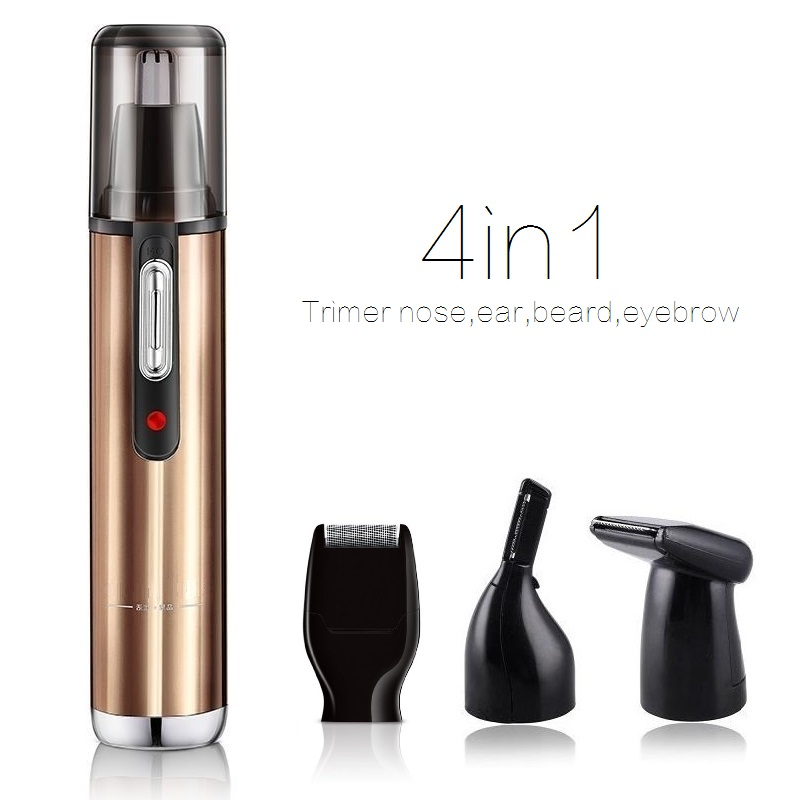 all in one rechargeable nose trimmer eyebrow face trimer ear beard trimmer for men hair removal. Black Bedroom Furniture Sets. Home Design Ideas