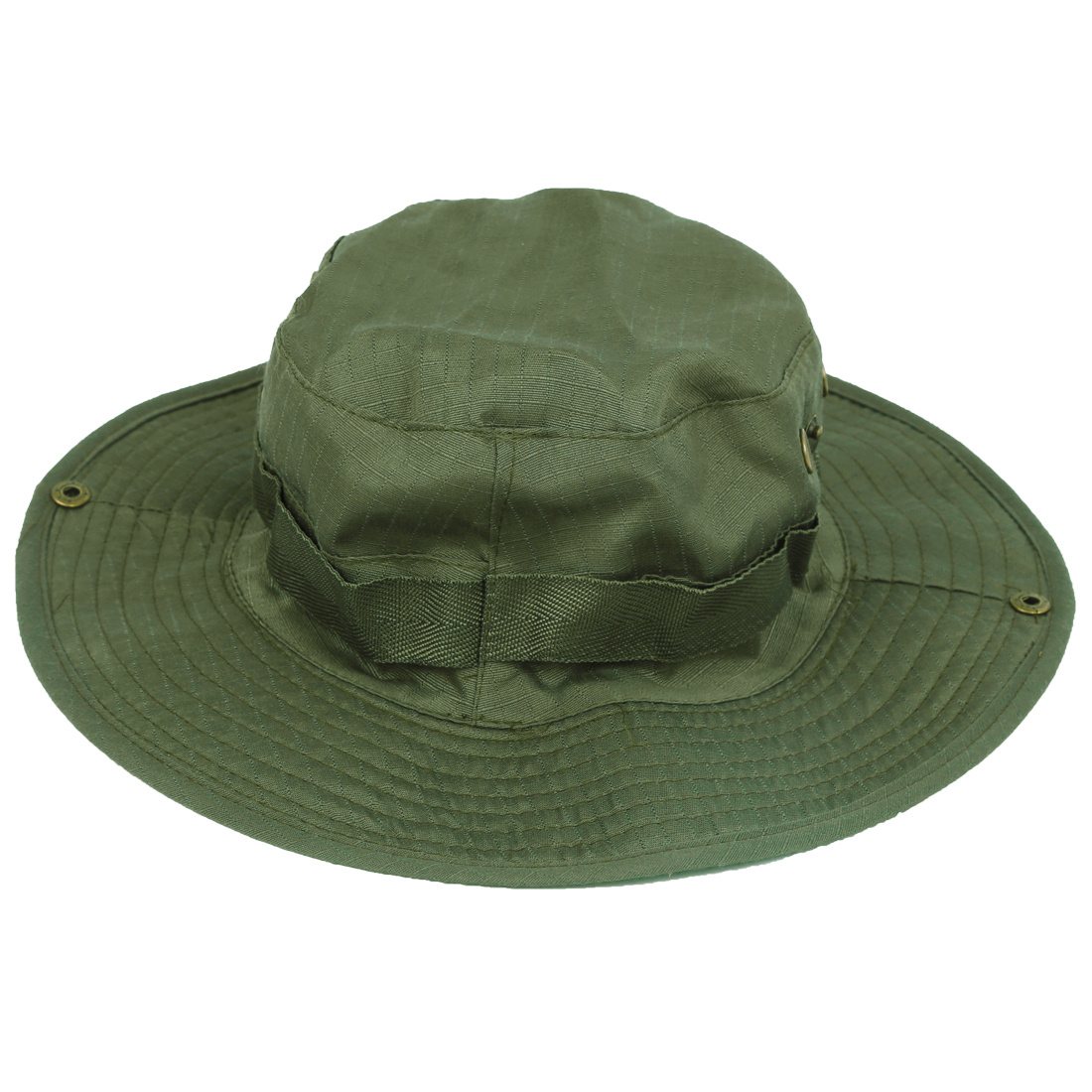 62462859d23 New Sale Outdoor Fishing Camping Hiking Sun Cap Round Rim Men Women Hat(dark  green