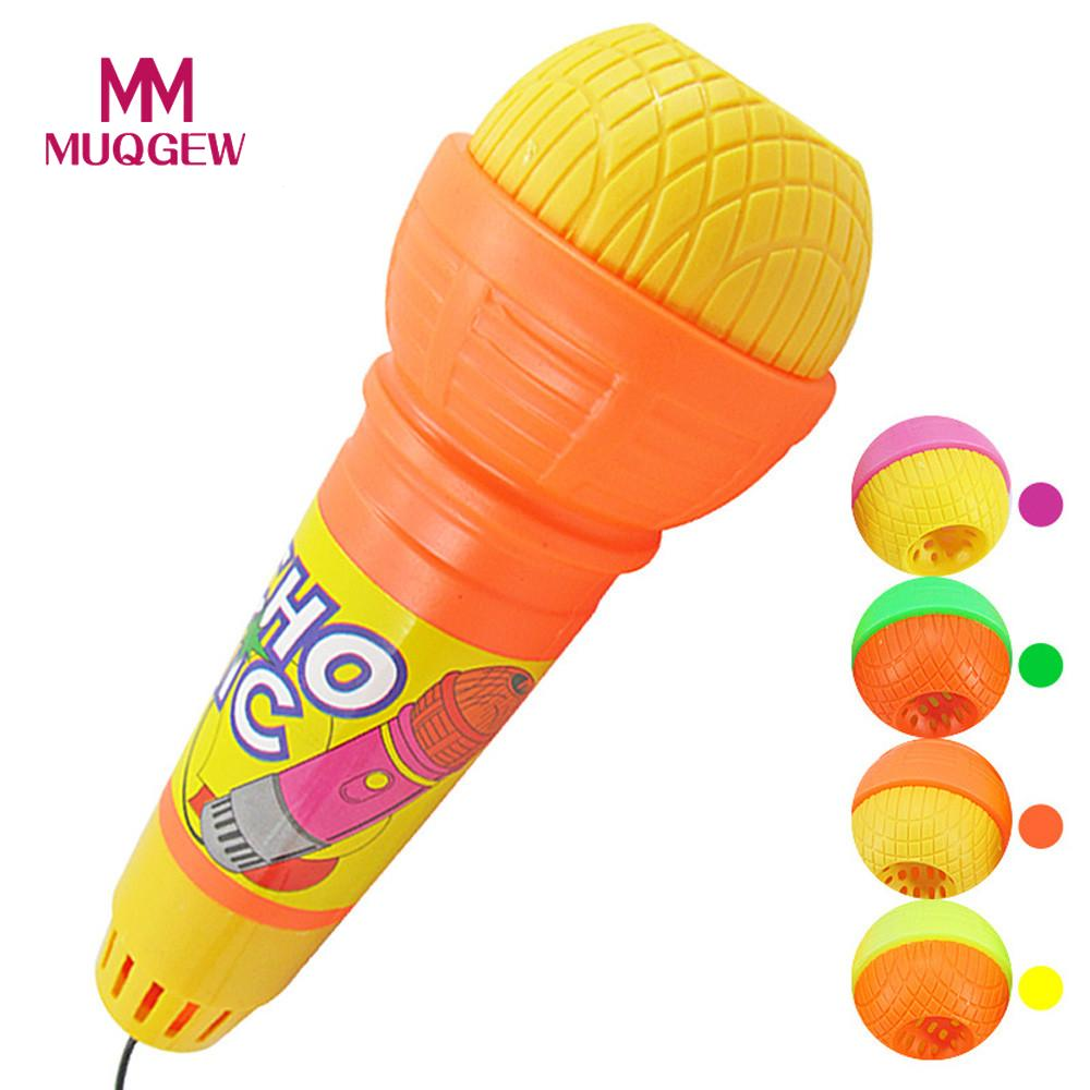 MUQGEW New Microphone Toys For Girls Boys Echo Microphone Mic Voice Changer Toy Gift Birthday Present Kids Party Song /PY