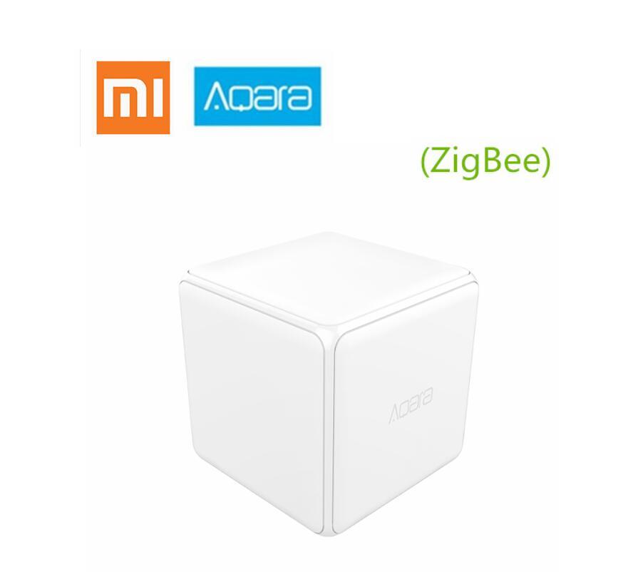 Xiao mi mi Aqara Cubo Mágico Controlador Zigbee Versão Controlada por Seis Ações Para Casa Inteligente Dispositivo de trabalho com mi jia mi casa app