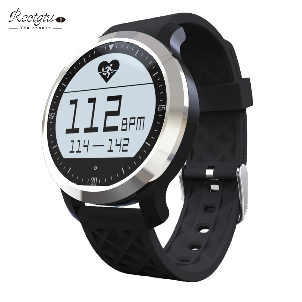 ФОТО REOTGTU  F69 Bluetooth smart Watch IP68 Fitness Tracker Bracelet Heart Rate Monitor & Swimming Wristband for IOS Android
