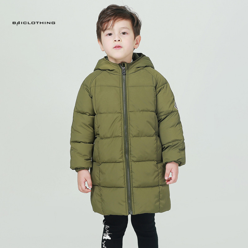 Thicken Long Coat Kids Winter Clothes Baby Children Down Parka Winter Warm Jacket Baby Girls Boys Hooded Child Snow Outerwear children winter coats jacket baby boys warm outerwear thickening outdoors kids snow proof coat parkas cotton padded clothes
