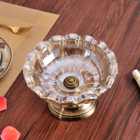 European Glass Ashtray Model Room Decor Decoration Office Home Furnishing Fashion Personality Ornaments Jewelry