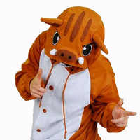 2019 mode Animal Onesie doux respirant confortable pyjamas Kugurumi mignon sanglier Cosplay Costume Halloween fête drôle
