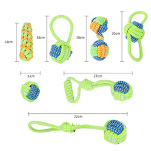 Safety Cotton Pet Dog Chew Toys For Small Dogs Teeth Cleaning Cotton Rope Knot Ball Interactive Rope Toys For Puppy Pet Products pet dog puppy chew tug teeth cleaning knot toy tennis ball w rope