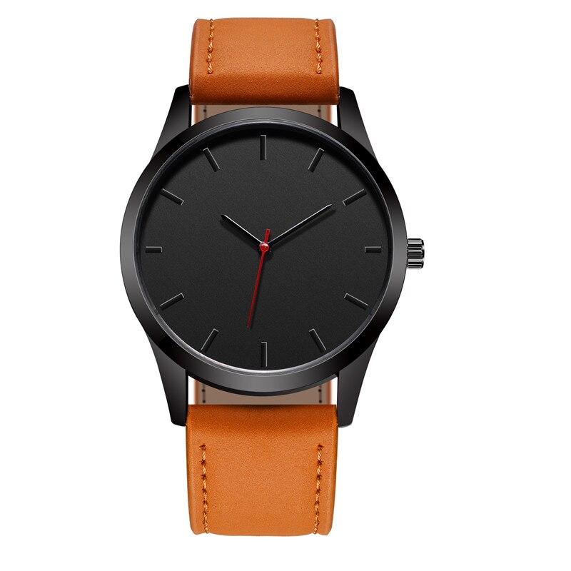 Reloj 2018 Fashion Large Dial Military Quartz Men Watch Leather Sport watches High Quality Clock Wristwatch Relogio Masculino T4