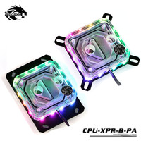 Bykski CPU Water Block For AMD & INTEL Transparent RGB Support 5V 3PIN Motherboard AURA SYNC CPU XPR B PA