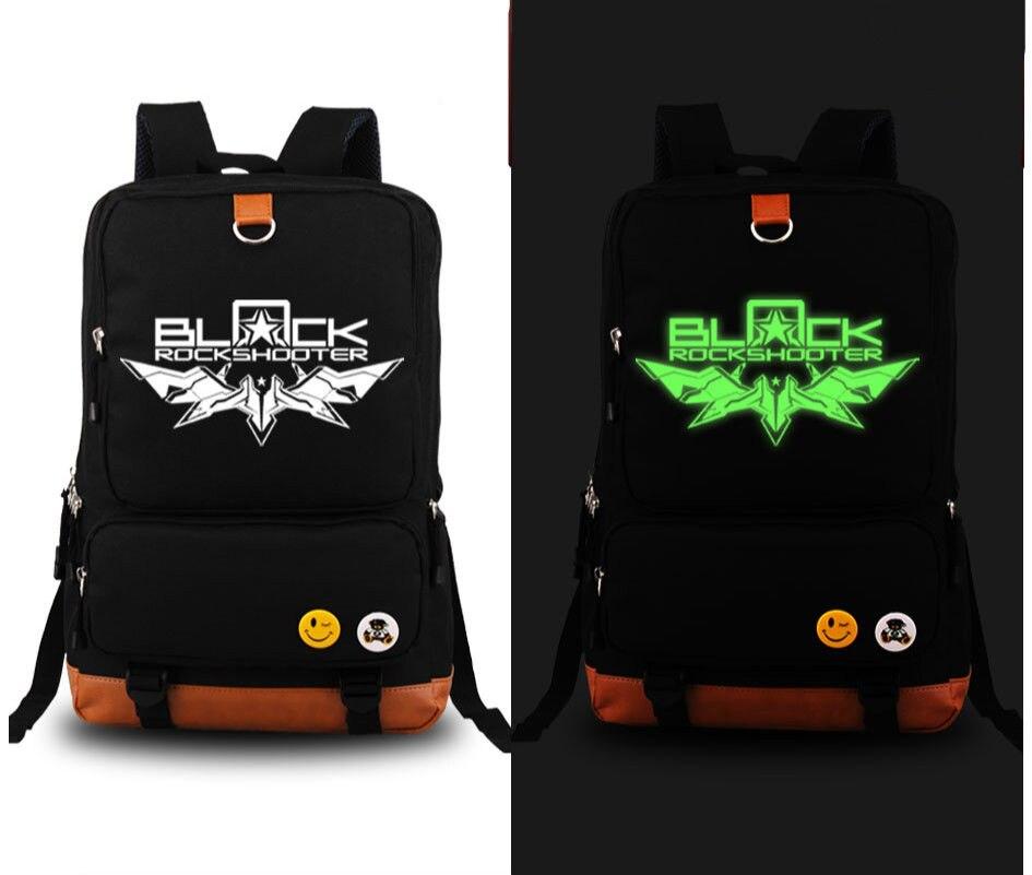 ФОТО Black Rock Shooter Shoulder School Messenger Backpack Black Luminous Bag New