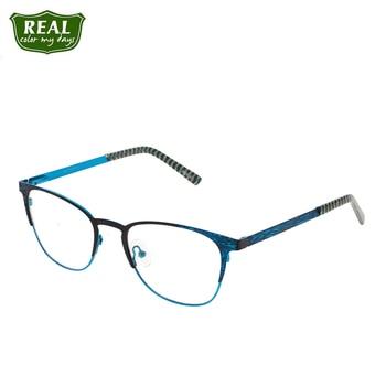 REAL New Stylish Metal Eyeglass Frames Men Women Eyewear Prescription Glasses Optical Frame