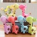 1 PC Unisex Baby Kid Criança Meninas Presente Bonito Do Girafa de Pelúcia Brinquedo macio Animal Querido Aniversário Da Criança Da Boneca Feliz Gifts18 X 7 cm
