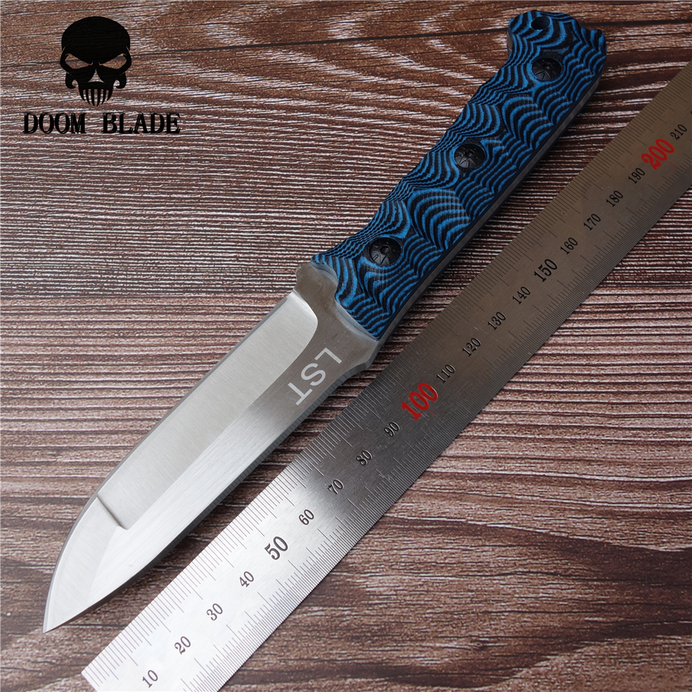 200mm 100 D2 Blade Fixed Hunting Knife D2 Steel G10 Outdoor EDC Hand Tool Knives Camping in Knives from Tools